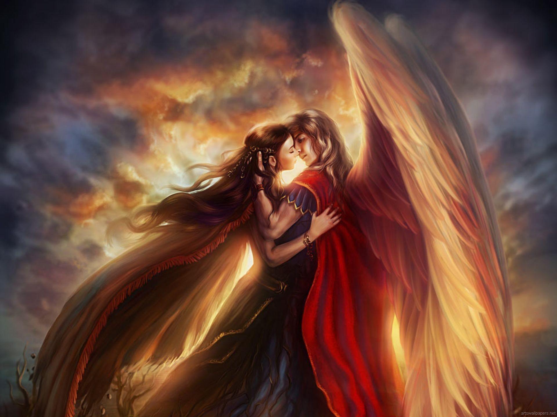 Hình ảnh thiên thần chiến tranh