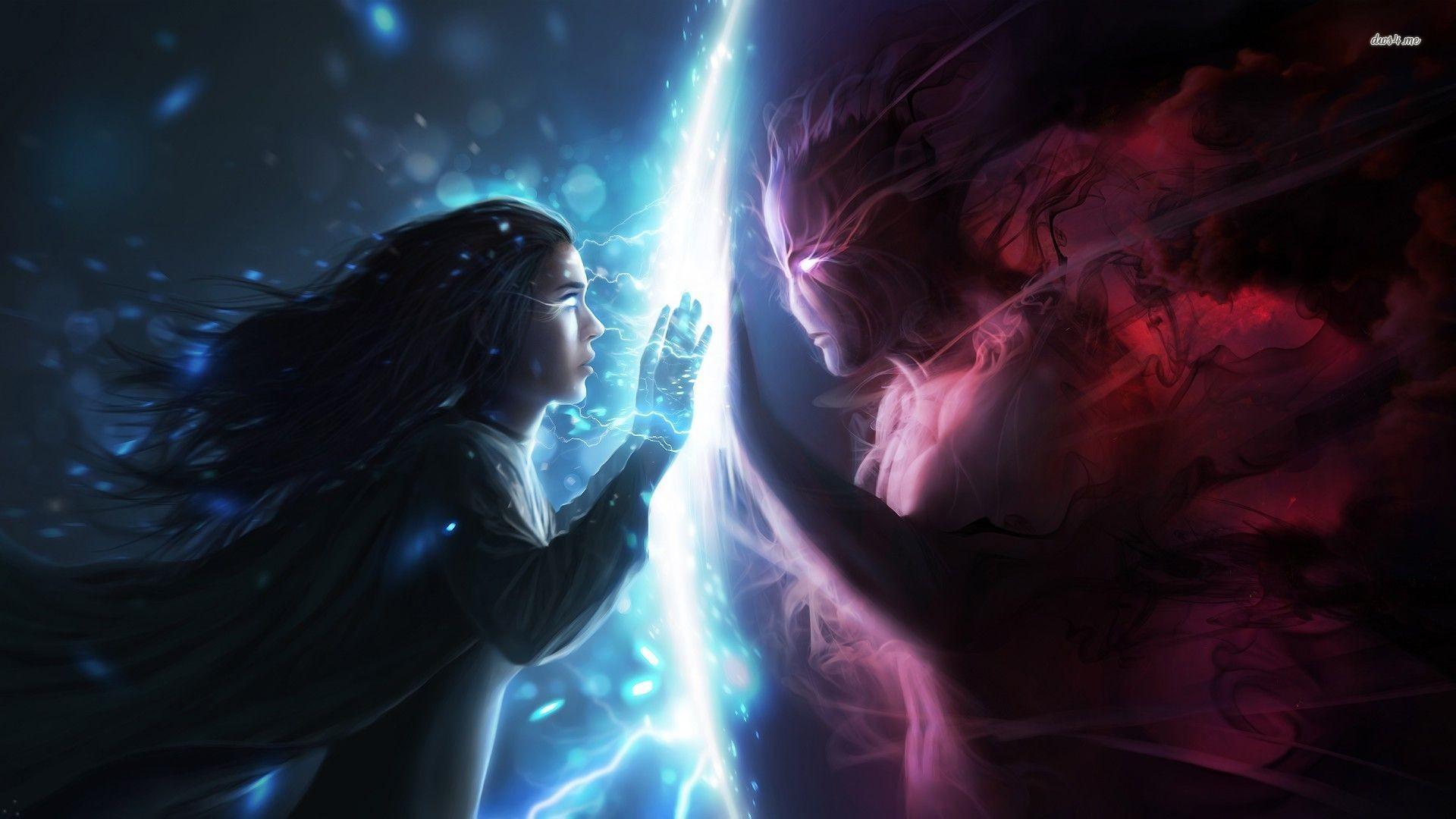 Hình ảnh thiên thần và ác quỷ