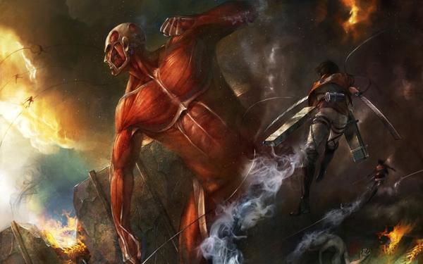 Hình ảnh trong Attack on titan