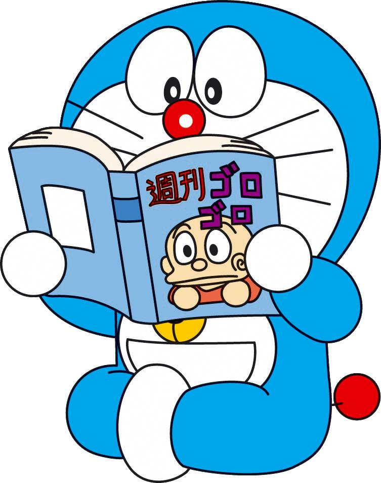 Ảnh Doremon đọc sách