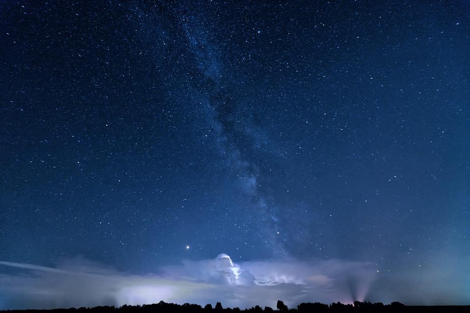 Background thiên nhiên bầu trời đêm