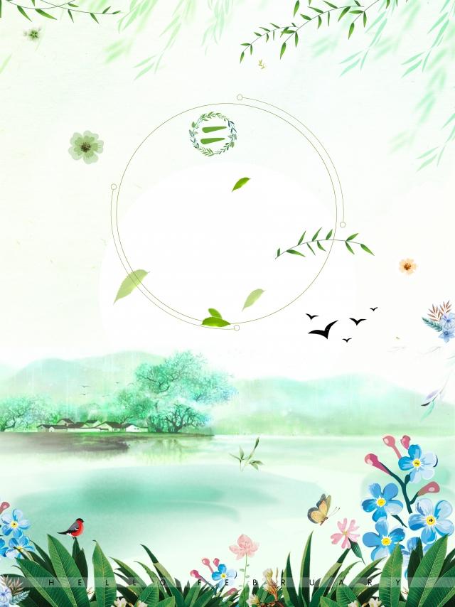 Background thiên nhiên hoa lá