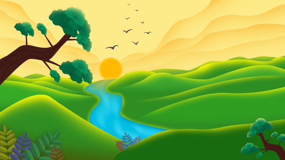 Background thiên nhiên tranh vẽ đẹp