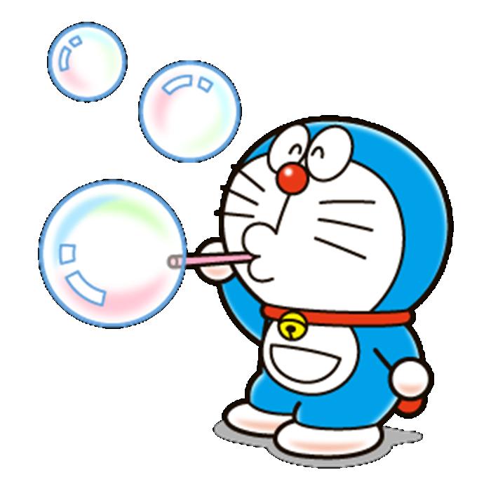 Hình ảnh Doremon thổi bong bóng
