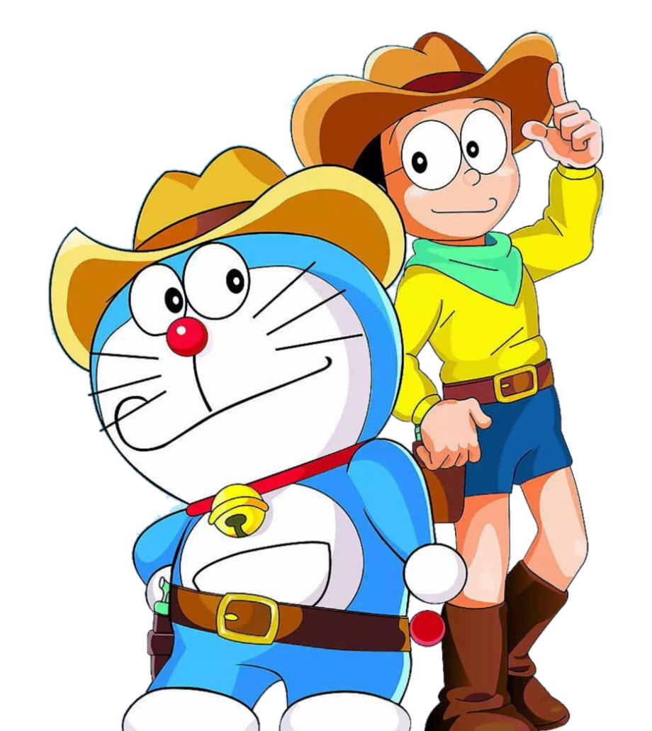Hình ảnh Doremon và nobita cao bồi