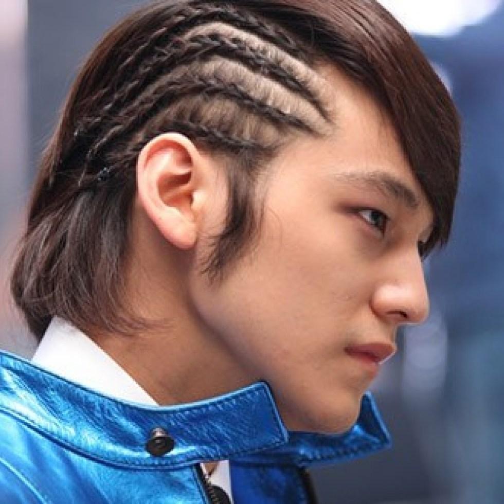 Kiểu tóc nam Hàn Quốc bện xương ca