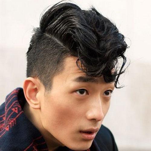 Kiểu tóc nam Hàn Quốc undercut uốn mái