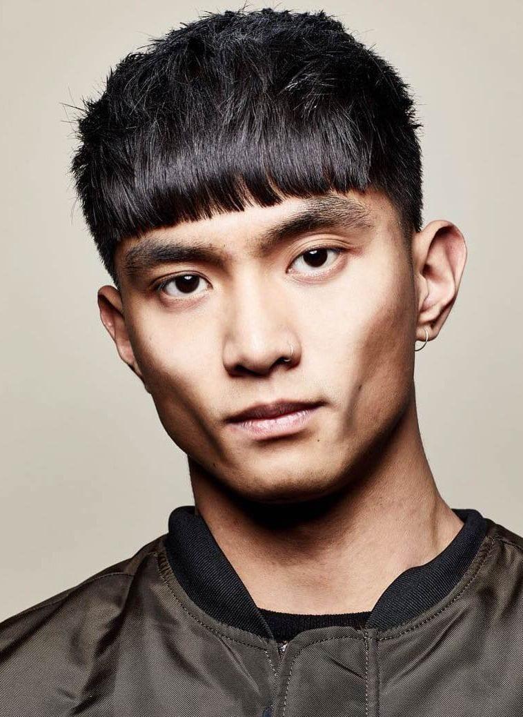 Kiểu tóc ngắn mái ngố nam tính Hàn Quốc