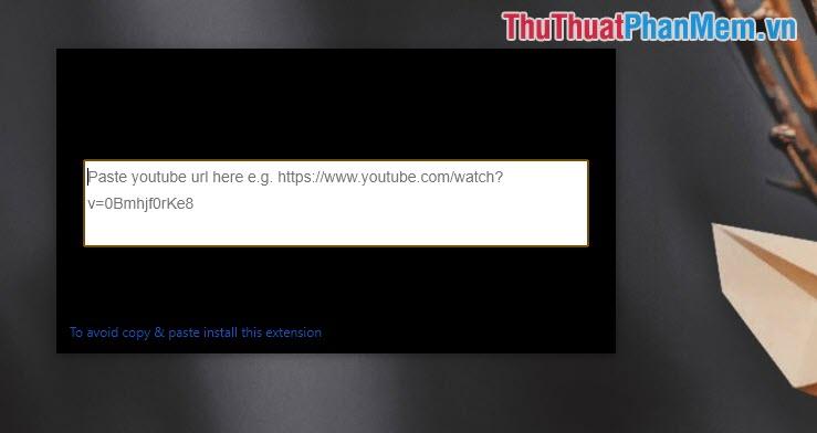 Dán Link Youtube vào là các bạn đã ghim Video trên Chrome thành công