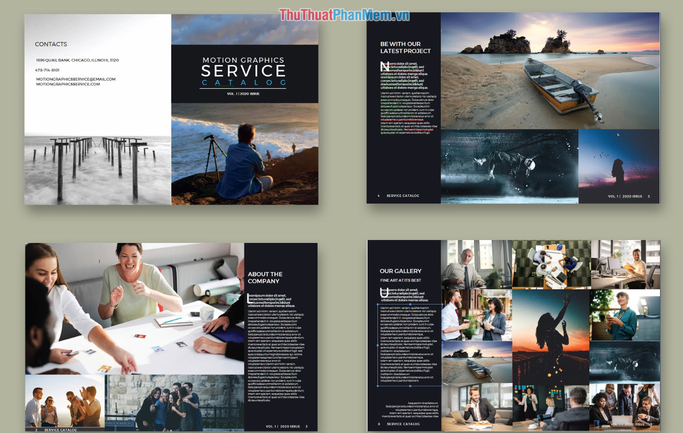 Mẫu Catalog dịch vụ