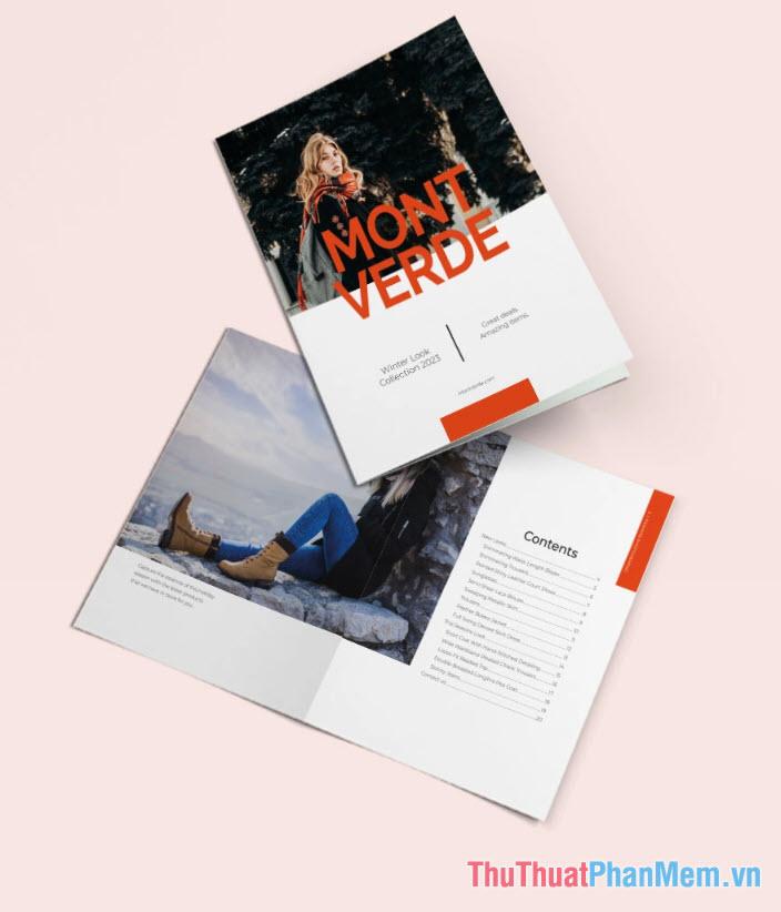 Mẫu Catalog thời trang hiện đại