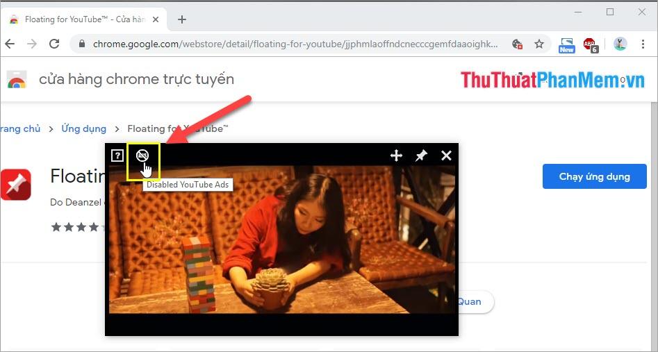 Tắt quảng cáo Video Youtube