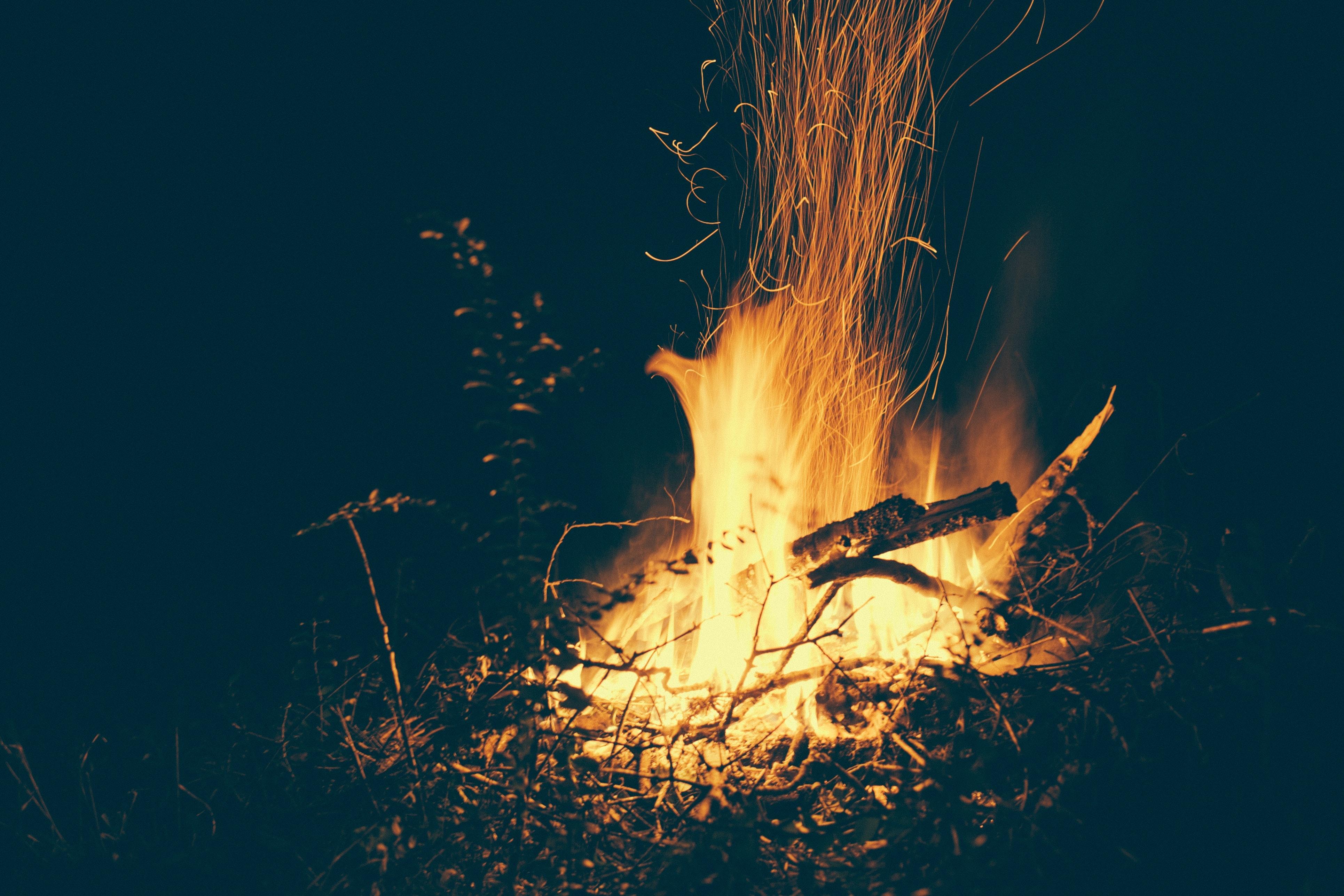 Background đám cháy