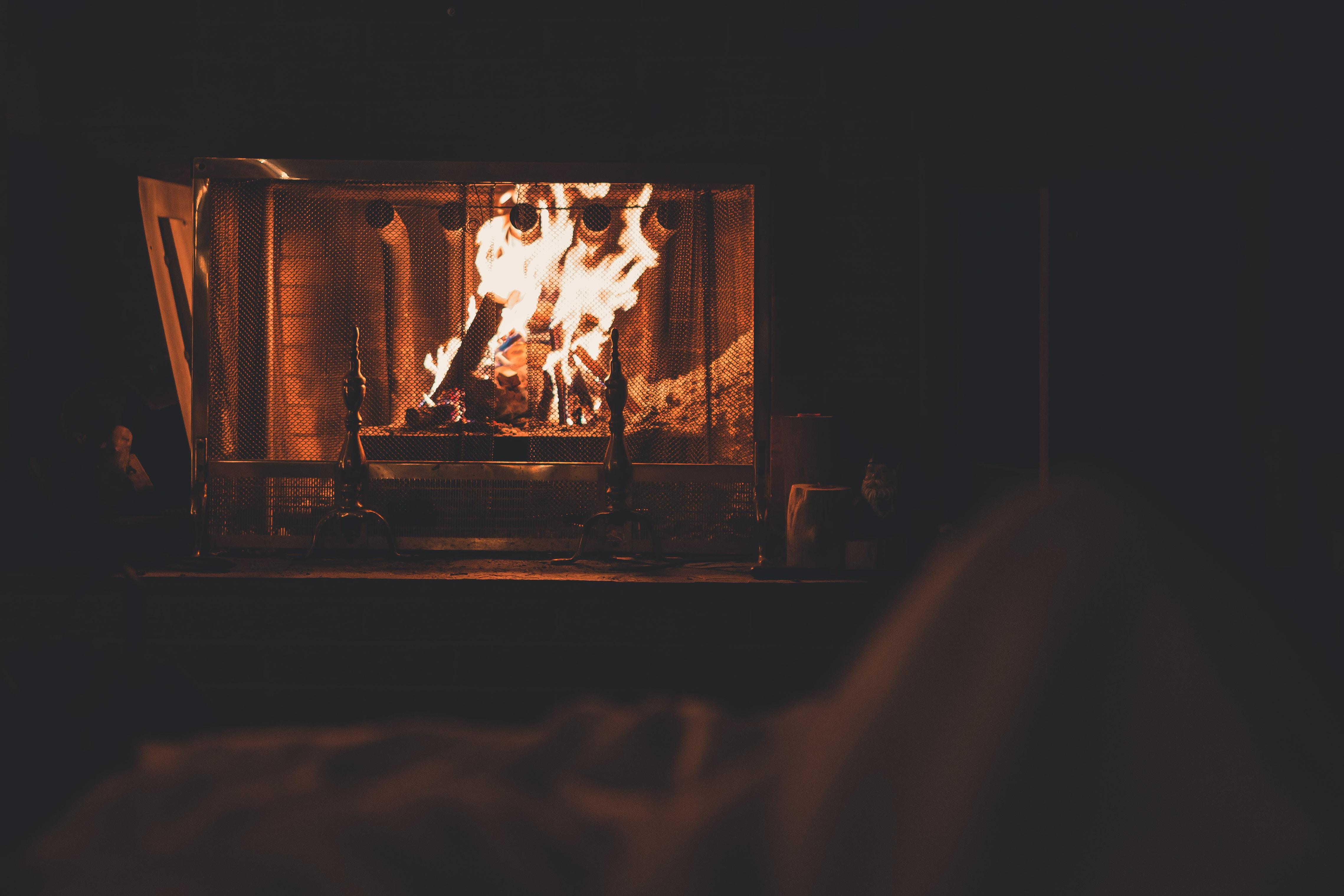 Background lò sưởi lửa