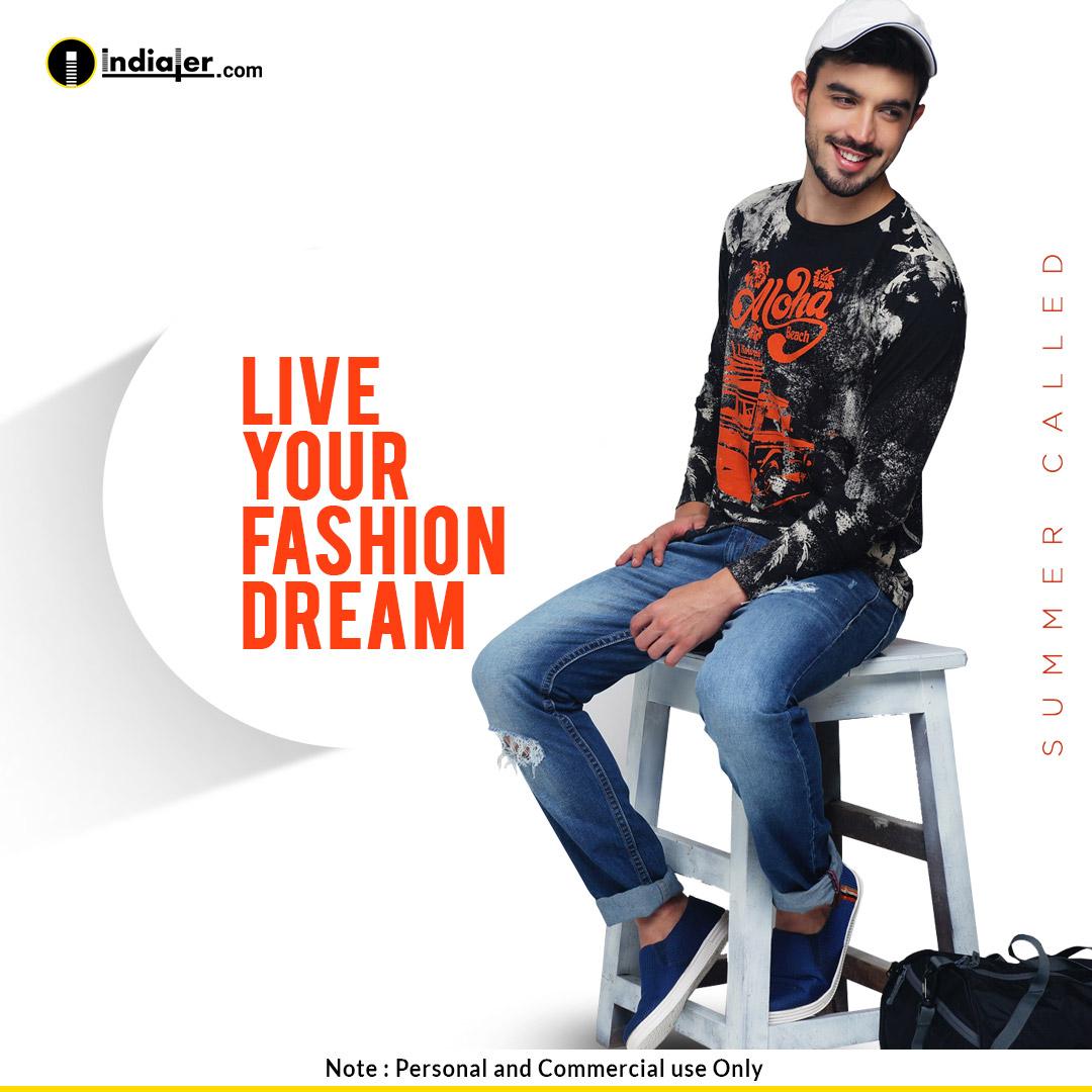 Banner quảng cáo thời trang nam đẹp