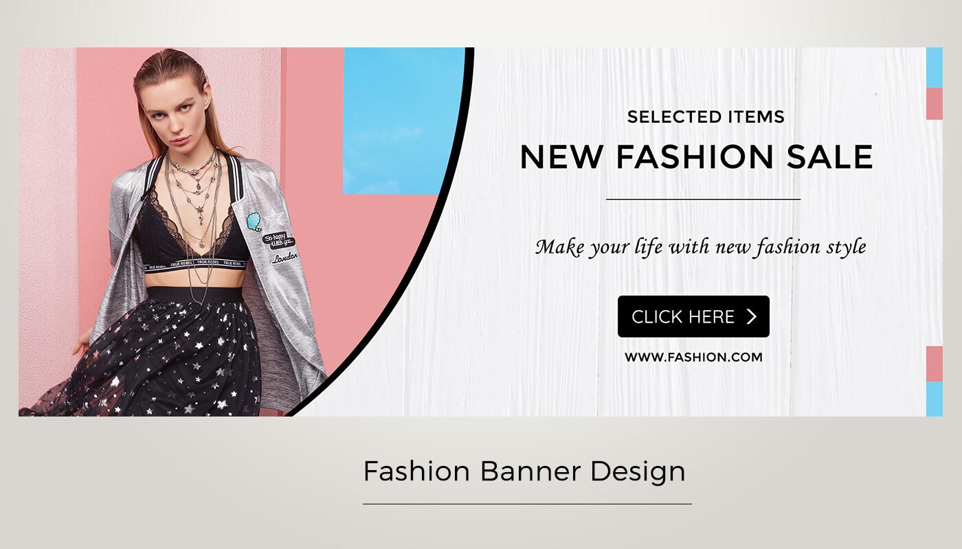 Banner thời trang đơn giản đẹp
