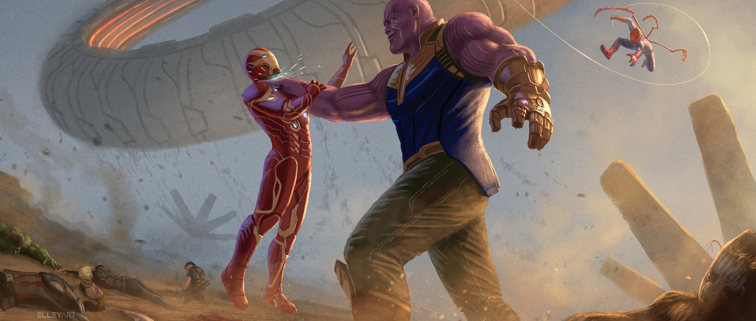 Thanos vs Iron Man