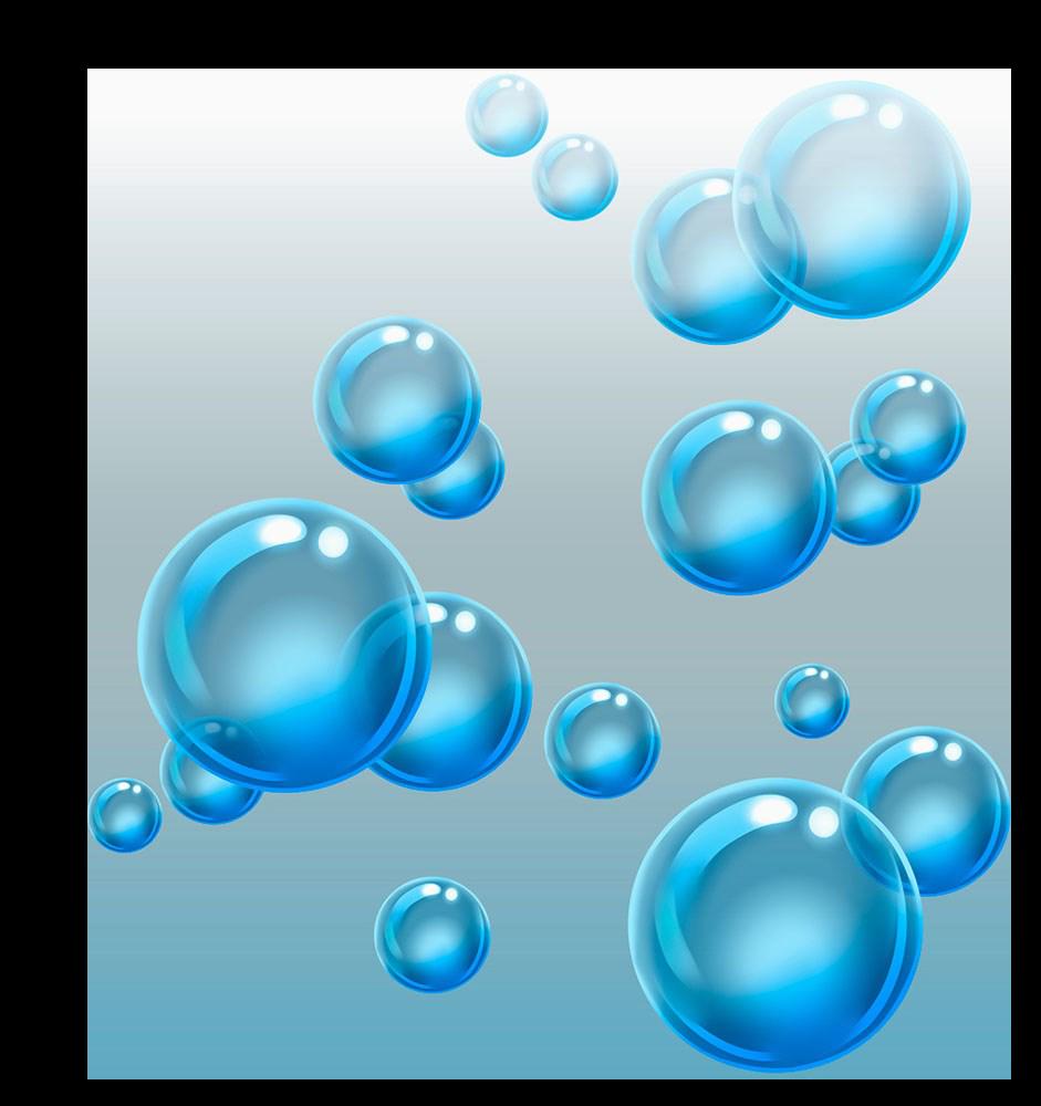 Hình ảnh bong bóng xanh 3D