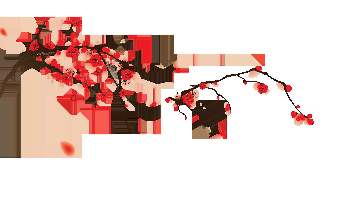 Hình ảnh cành hoa đào đỏ đẹp