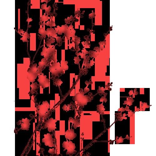 Hình ảnh hoa đào màu đỏ đẹp