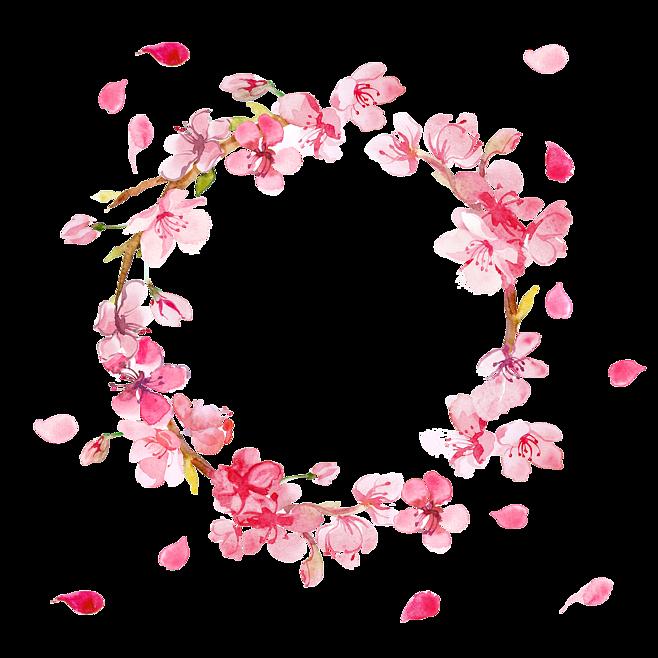 Hình ảnh vòng hoa đào