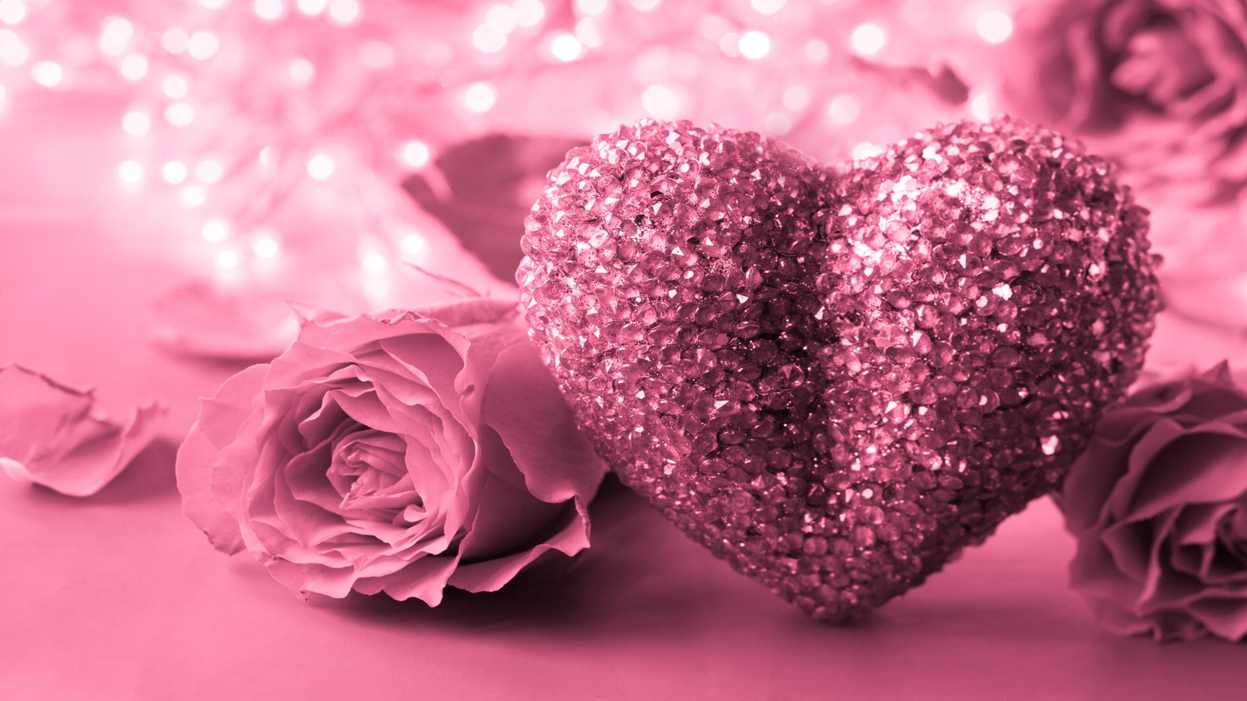 Ảnh nền trái tim hoa hồng đẹp