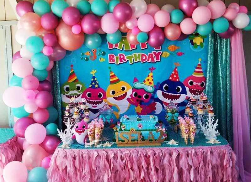 Backdrop sinh nhật cho bé