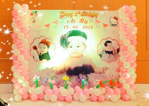 Backdrop sinh nhật đẹp dành cho bé