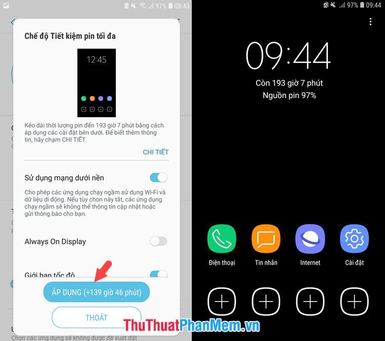 Điện thoại của bạn sẽ sử dụng chủ đề tối để giảm hiệu năng tiêu thụ pin