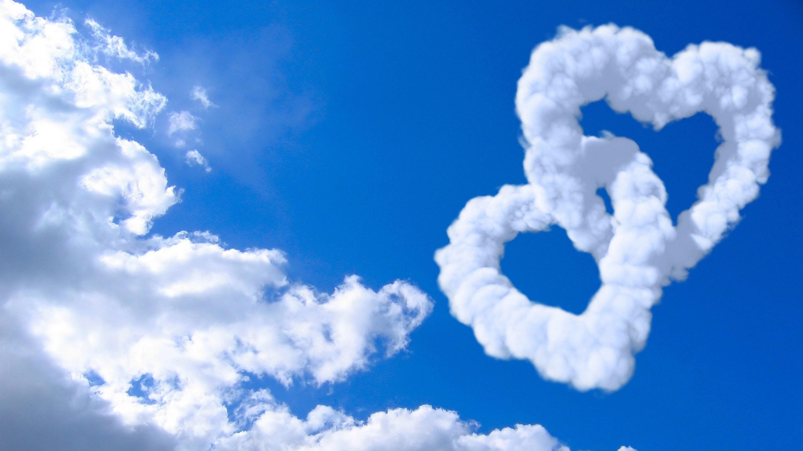 Hình nền mây trái tim