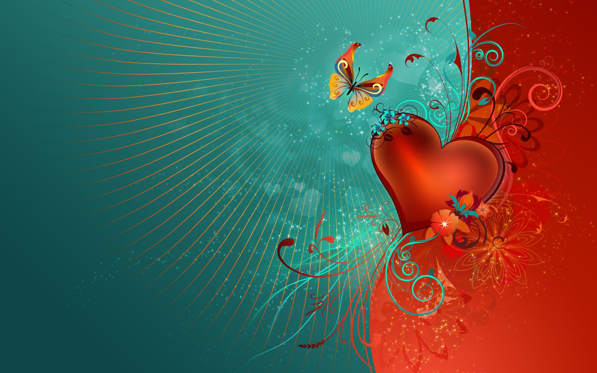 Hình nền trái tim cho máy tính