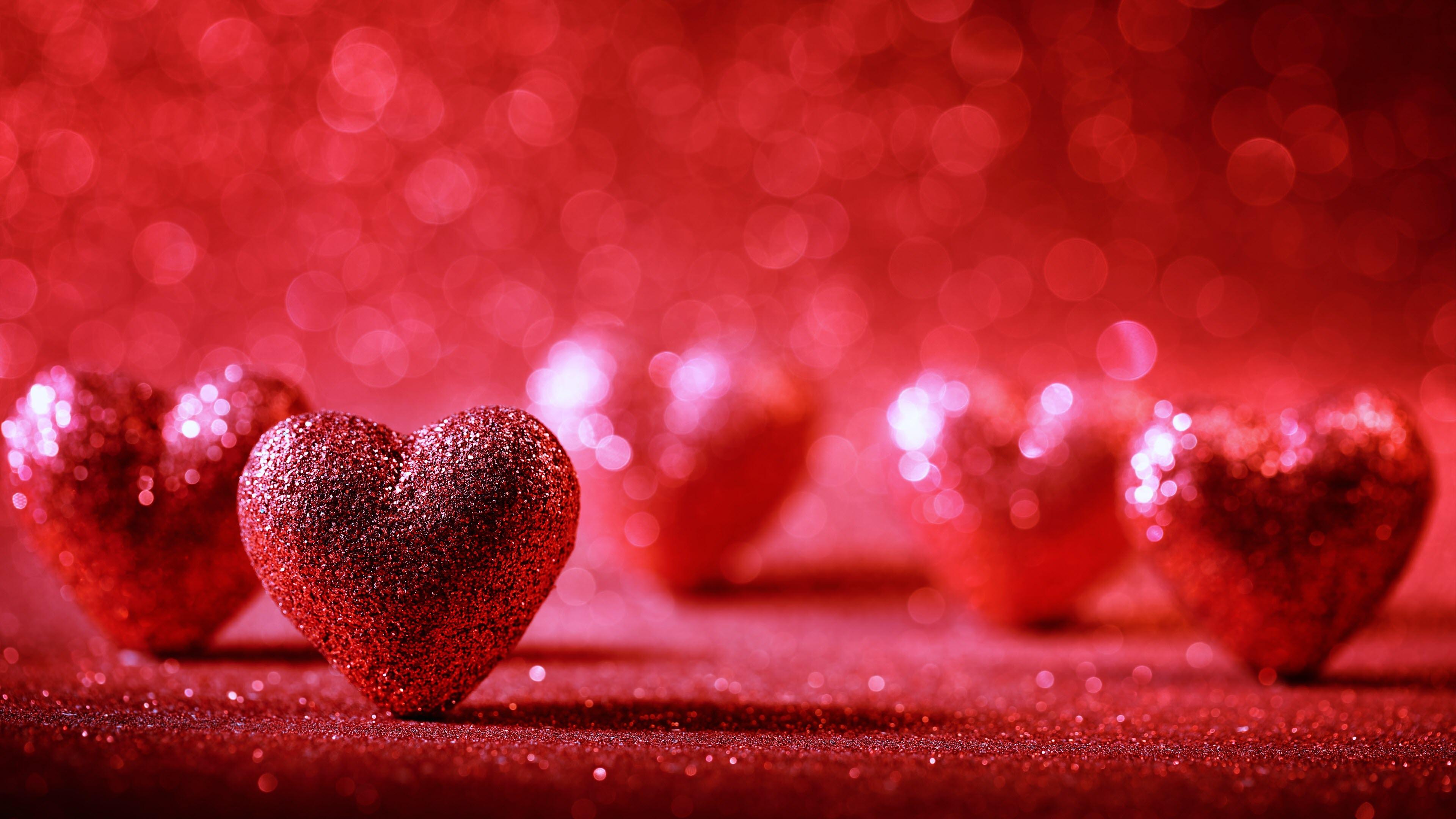 Hình nền trái tim lấp lánh đẹp