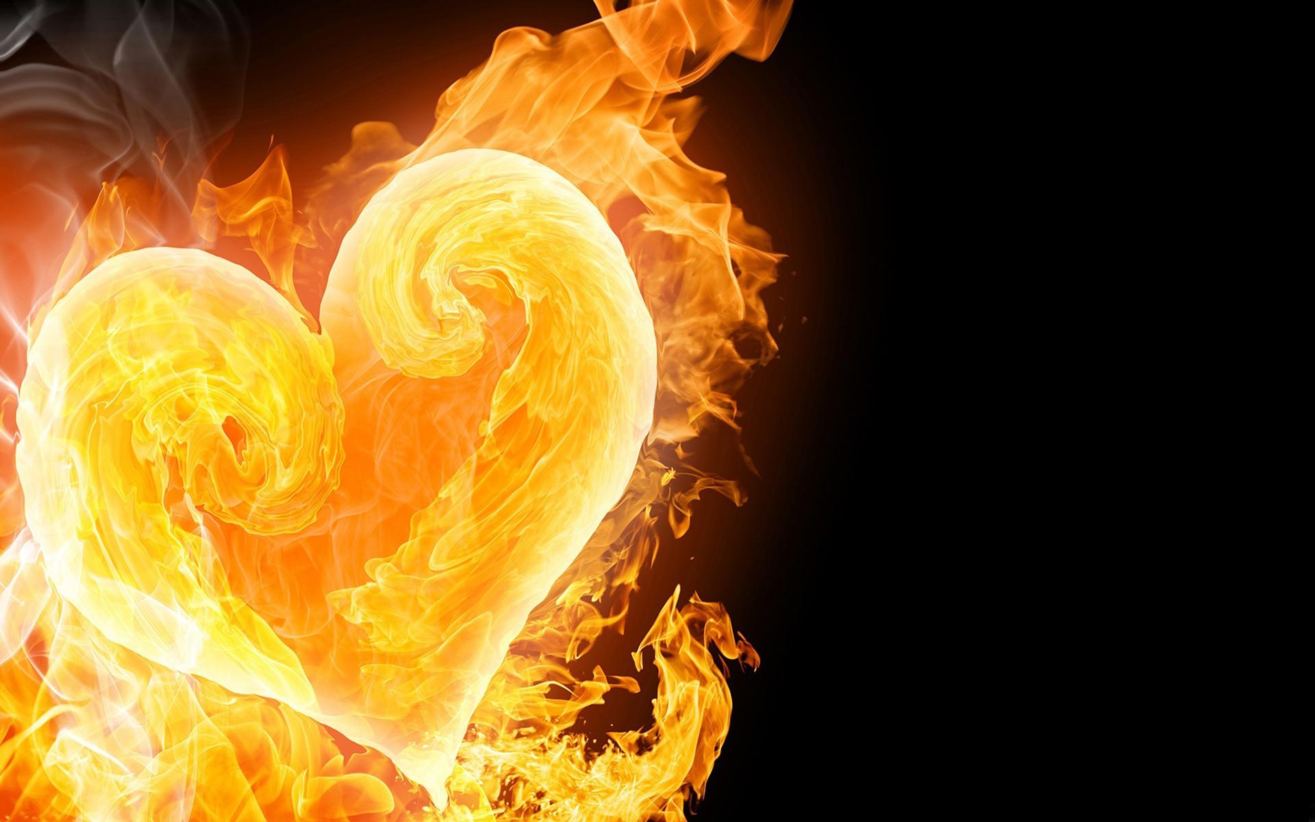 Hình nền trái tim lửa
