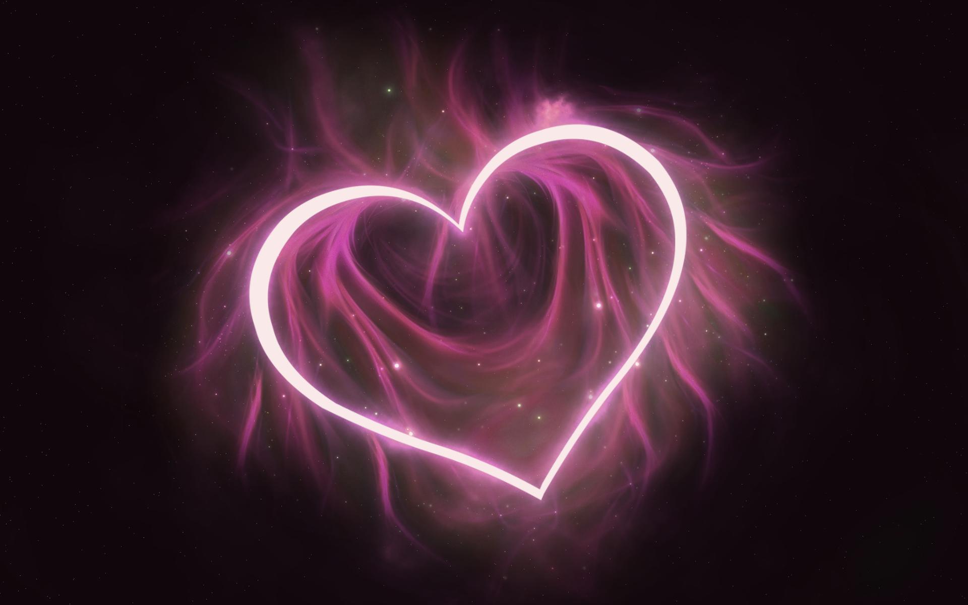 Hình nền trái tim lung linh