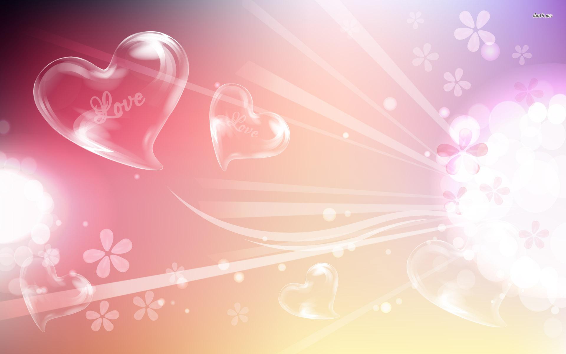 Hình nền trái tim nhẹ nhàng