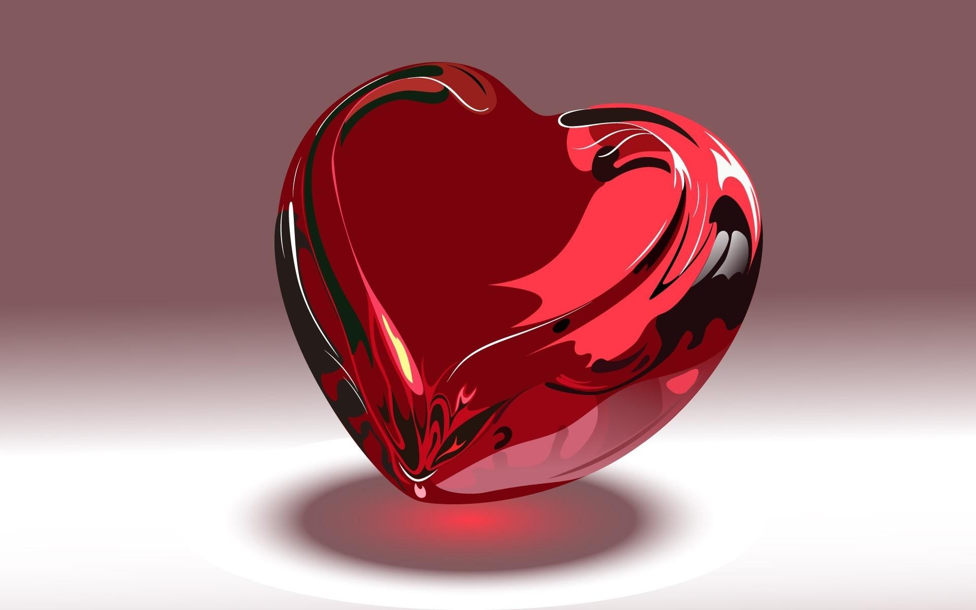 Hình nền trái tim thủy tinh