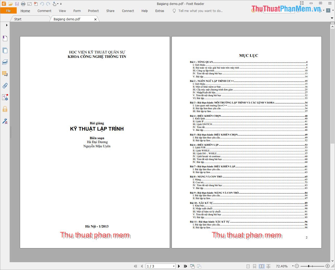 Kết quả sau khi đóng dấu bằng A-PDF Watermark