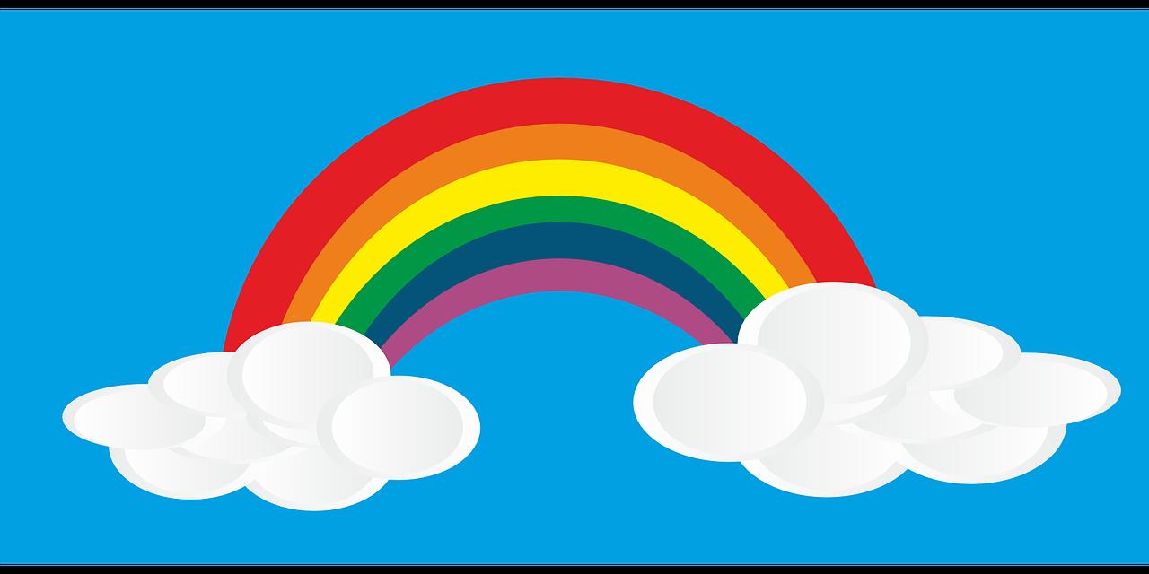 Background mây cầu vồng