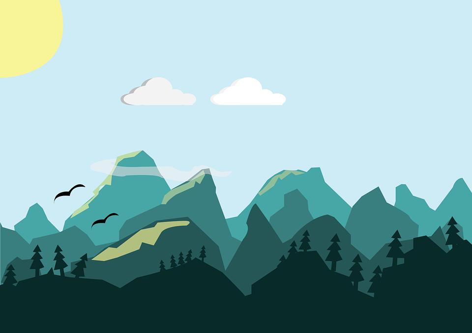 Background núi đồi đẹp