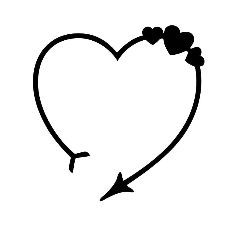 Hình ảnh mũi tên hình trái tim