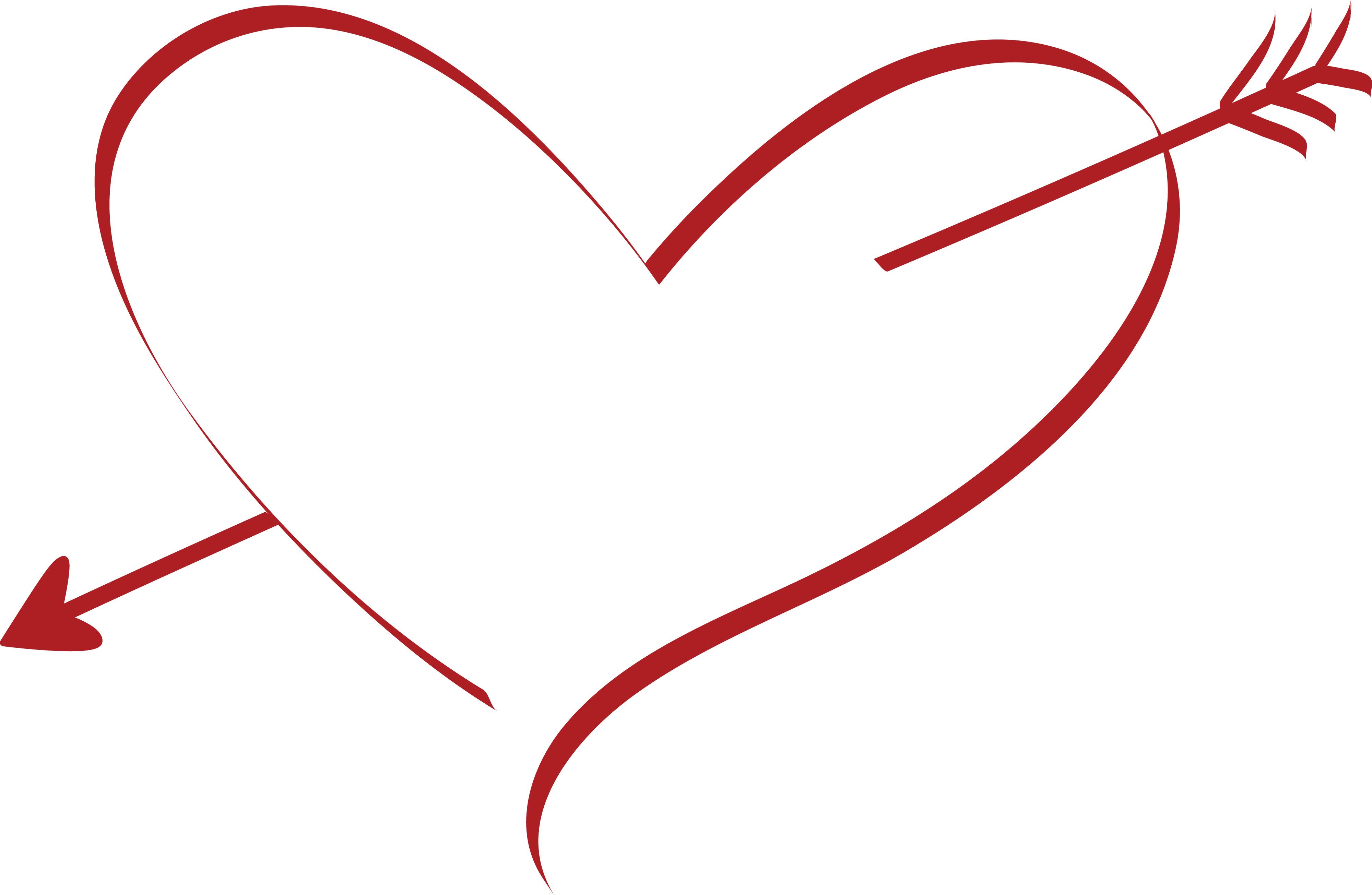 Hình ảnh mũi tên với trái tim