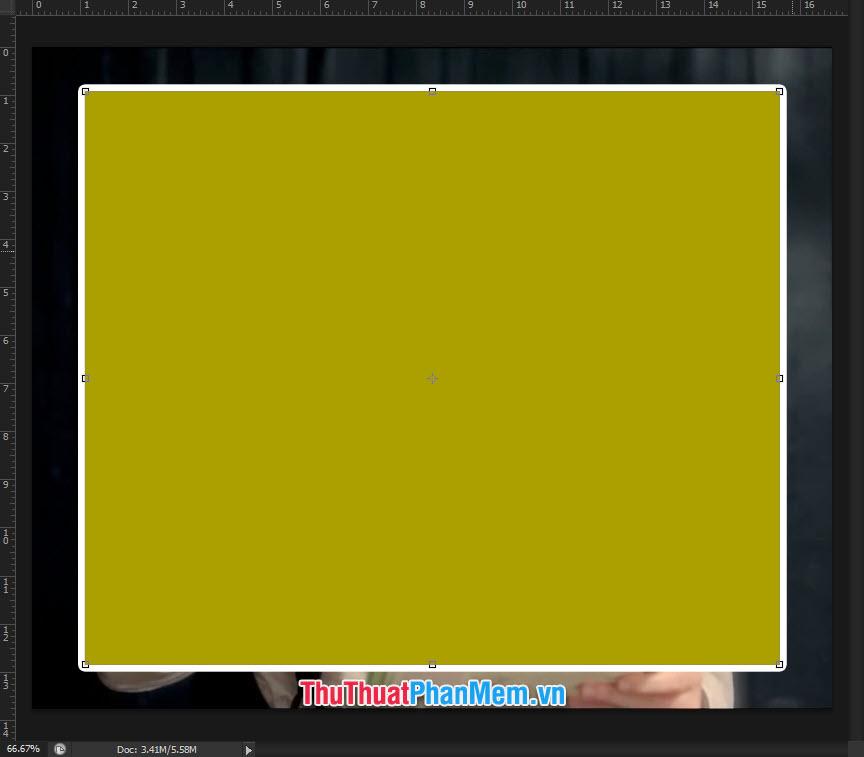 Kết quả tạo đường viền khung dày 10pt bao quanh layer lựa chọn